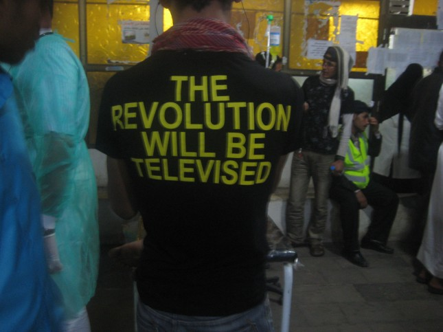 Demonstrator, Field Hospital, Change Square, Sanaa